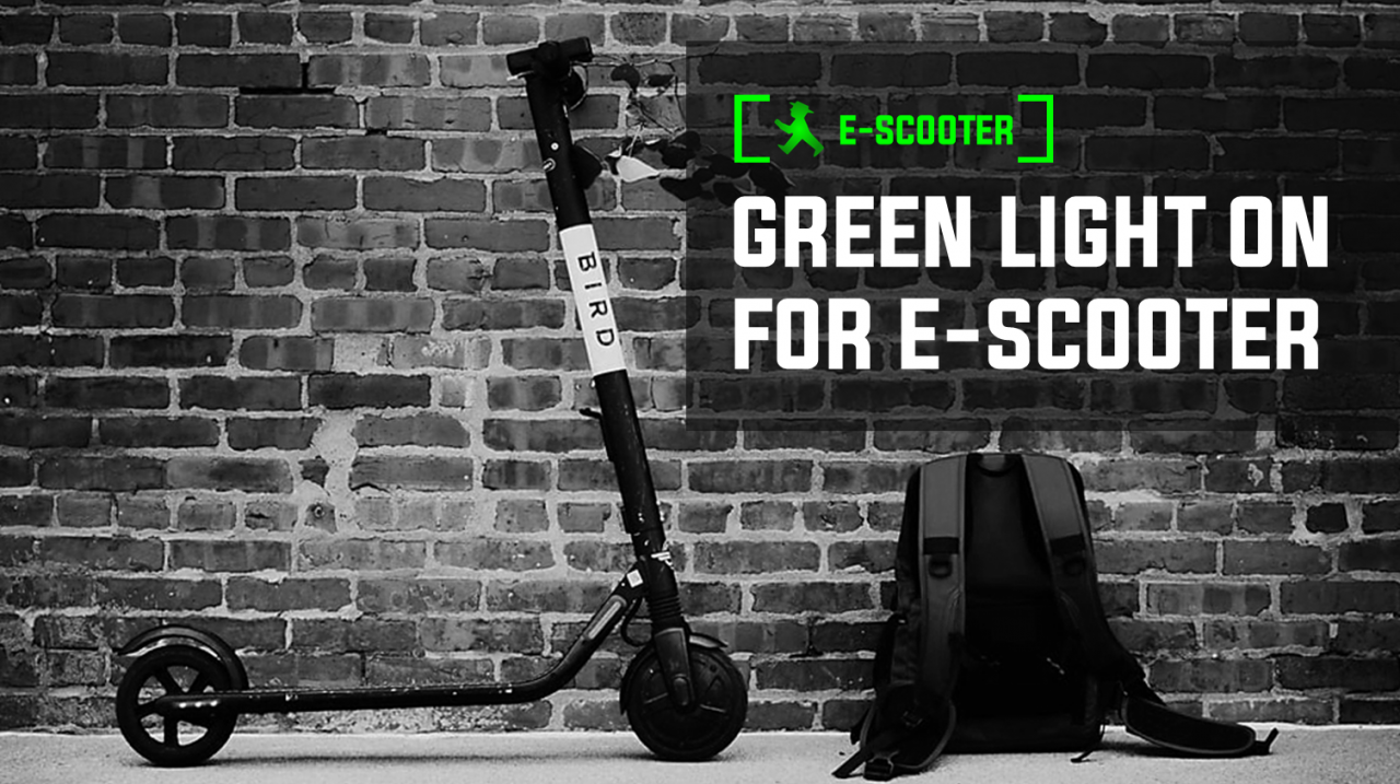 E-SCOOTER: Green Light On For E-Scooter